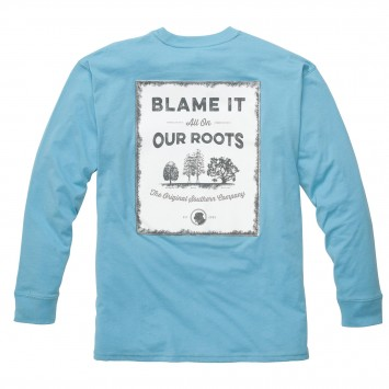 Our Roots Tee: Retro Blue Long Sleeve